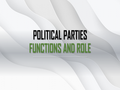 functions-and-role-political-parties