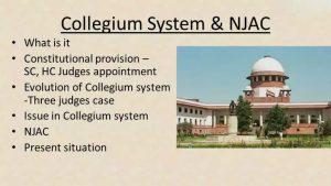 Collegium system of India