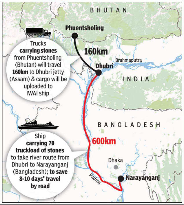First Ever Movement Of Container Cargo On Brahmaputra